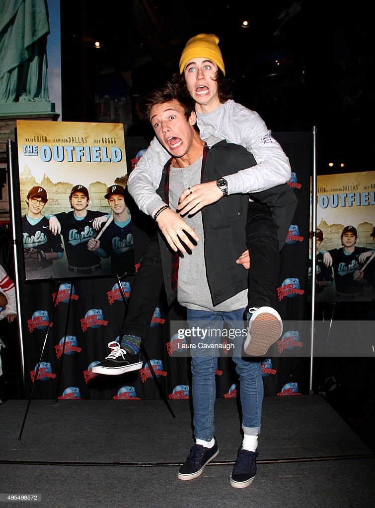 Nash Grier And Cameron Dallas Visit Planet Hollywood Times Square