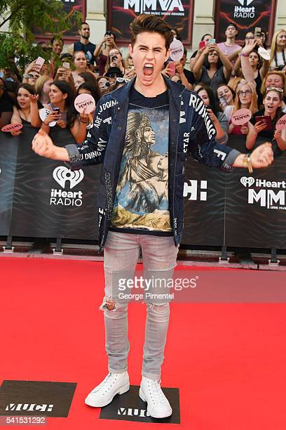 Nash Grier arrives at the 2016 iHeartRADIO MuchMusic Video Awards at MuchMusic HQ on June 19 2016 in Toronto Canada