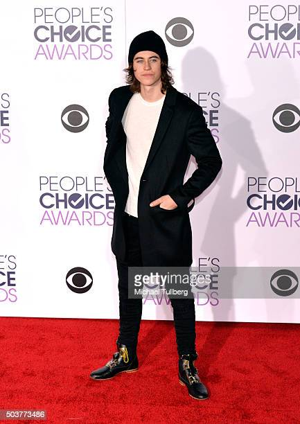 Nash Grier attends the 2016 People's Choice Awards at Microsoft Theater on January 6 2016 in Los Angeles California