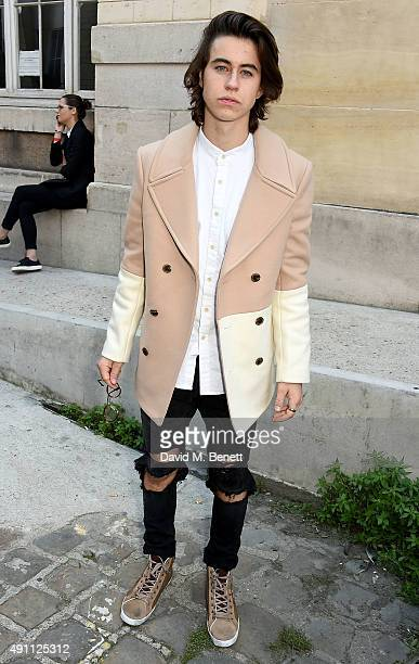 Nash Grier attends the Vivienne Westwood show as part of the Paris Fashion Week Womenswear Spring/Summer 2016 on October 3 2015 in Paris France