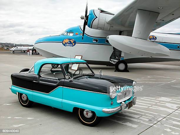 Nash Metropolitan and vintage seaplane
