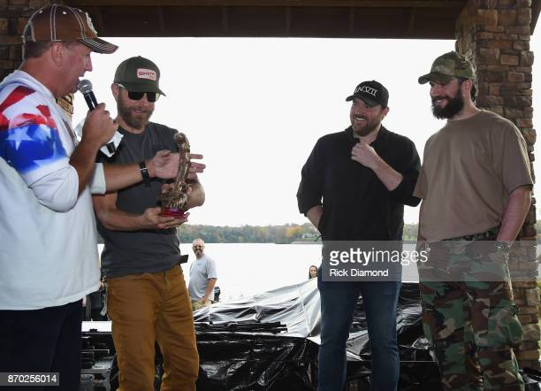 'Nash Nights Live' host Shawn Parr Singers/Songwriters Anglers Dierks Bentley Chris Young and Sam Hunt attend Th3 Legends Cast For A Cure Tournament...