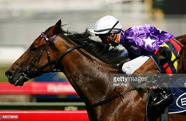 Nash Rawiller riding Faulconbridge wins the Del Aqua Handicap on George Main Stakes Day at Royal Randwick racecourse on September 27, 2009 in Sydney,...