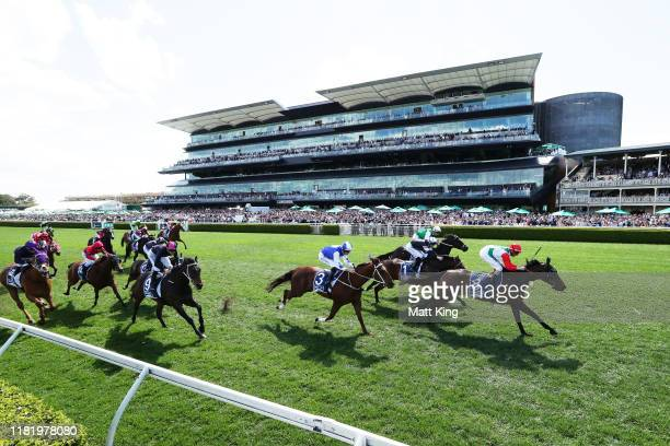 Nash Rawiller riding Handle the Truth wins race 5 The Kosciuszko during The Everest at Royal Randwick Racecourse on October 19, 2019 in Sydney,...