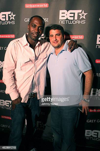 Nashawn Kearse and Chris Reda attend the 2008 Urban Film Festival post party at Room Service on September 11 2008 in New York City