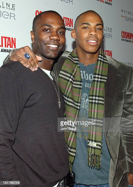 Nashawn Kearse and Mehcad Brooks during Cosmopolitan Presents Its Fun Fearless Male Awards Arrivals at Day After in Hollywood California United States