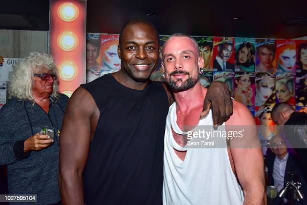 Nashom and Geoffrey Mac attend STARMAKER Book Launch By Roger And Mauricio Padilha at Public Hotel on September 5 2018 in New York City