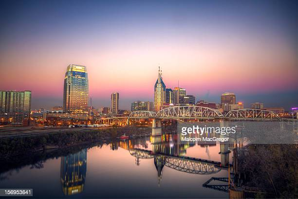 nashville at dawn - tennessee stock pictures, royalty-free photos & images