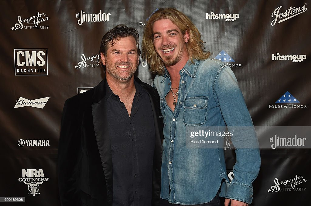 CMS Nashville Chairman and CEO Chris King and Bucky Covington attend the Folds of Honor/CMS Nashville Songwriter of the Year Party during the 50th annual CMA Awards week on November 1, 2016 in Nashville, Tennessee.