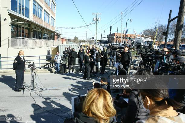 Nashville Fire Chief William Swann speaks during a news conference on the Christmas day bombing on December 26, 2020 in Nashville, Tennessee. Police...