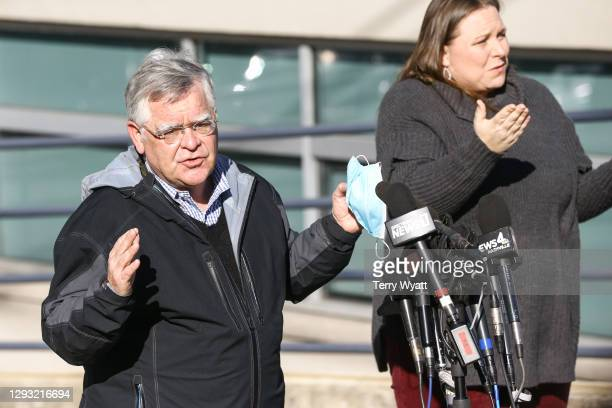 Nashville Mayor John Cooper speaks during a news conference on the Christmas day bombing on December 26, 2020 in Nashville, Tennessee. Police are...