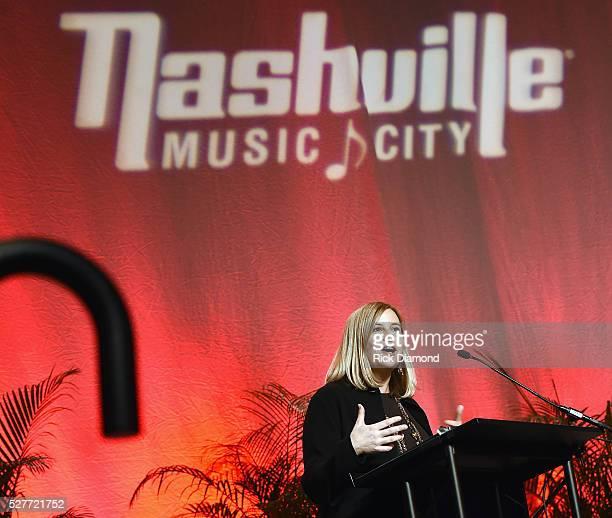 Nashville Mayor Megan Barry attends Nashville's National Tourism Week Hospitality Celebration at Music City Center on May 3 2016 in Nashville...