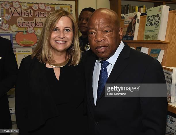 Nashville Mayor Megan Berry and Congressman/Civil Rights Icon John Lewis attend Nashville Public Library Awards Civil Right Icon Congressman John...