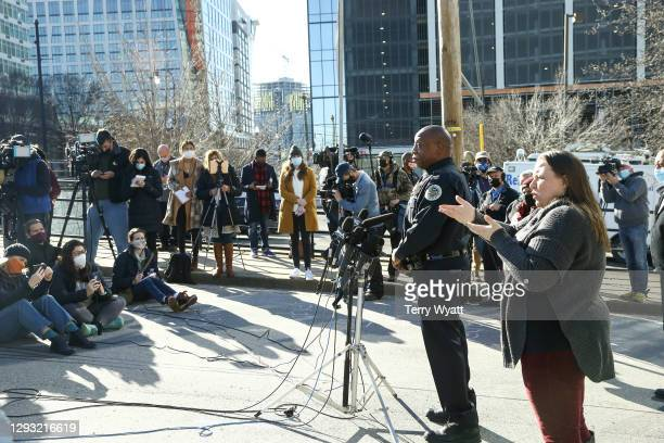 Nashville Police Chief John Drake speaks during a news conference on the Christmas day bombing on December 26, 2020 in Nashville, Tennessee. Police...