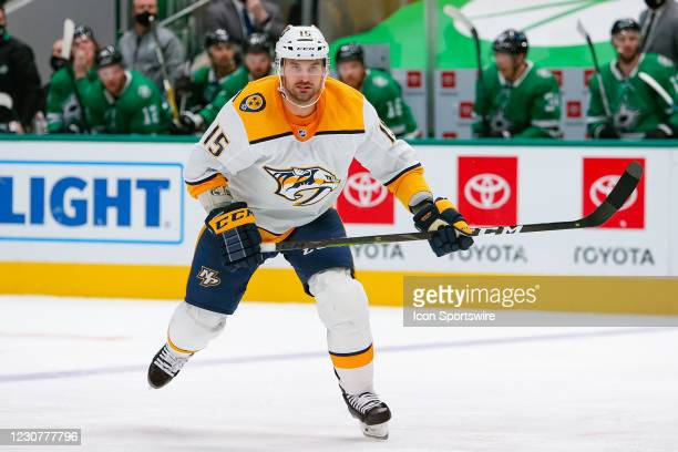 Nashville Predators Center Brad Richardson during the game between the Nashville Predators and Dallas Stars on January 24, 2021 at American Airlines...