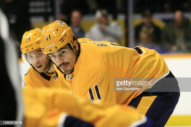 Nashville Predators center Brian Boyle is shown during the NHL game between the Nashville Predators and Dallas Stars held on February 7 at...
