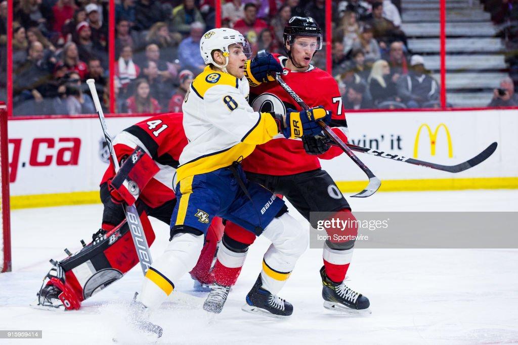 NHL: FEB 08 Predators at Senators : News Photo