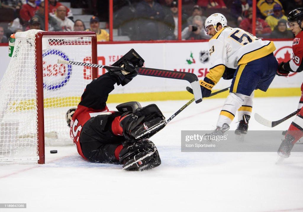 NHL: DEC 19 Predators at Senators : News Photo