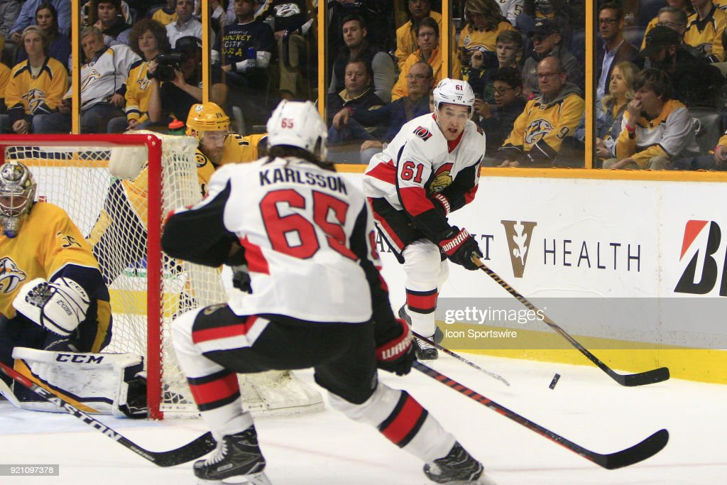NHL: FEB 19 Senators at Predators : Photo d'actualité