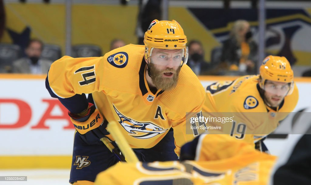 NHL: MAY 27 Stanley Cup Playoffs First Round - Hurricanes at Predators : News Photo