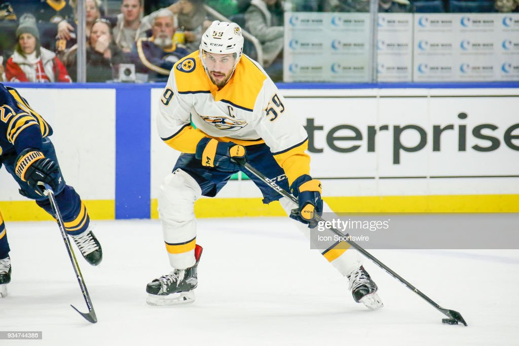 NHL: MAR 19 Predators at Sabres : News Photo