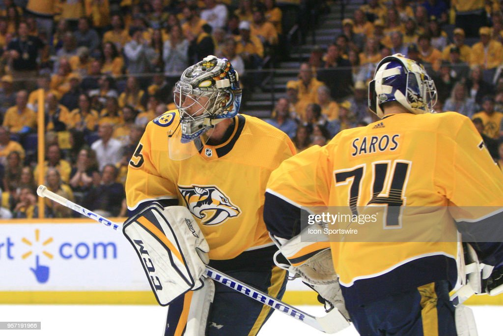 NHL: MAY 10 Stanley Cup Playoffs Second Round Game 7 - Jets at Predators : News Photo