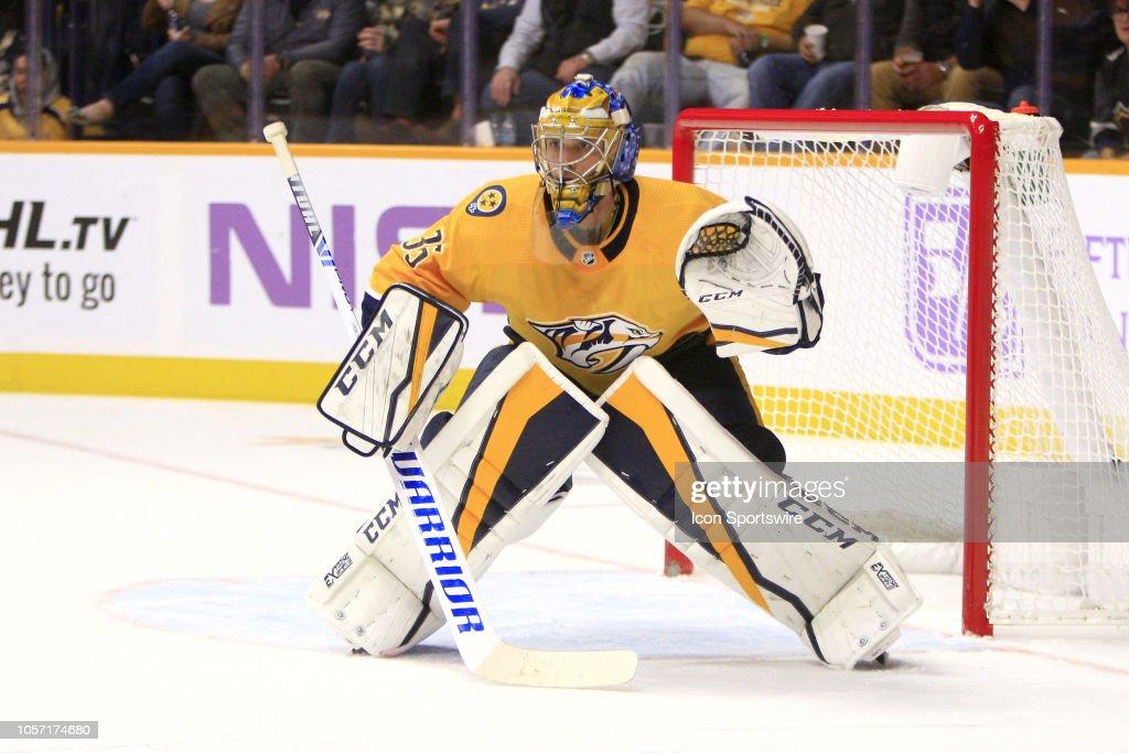 NHL: NOV 03 Bruins at Predators : Foto di attualità