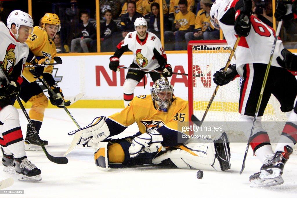 NHL: FEB 19 Senators at Predators : News Photo