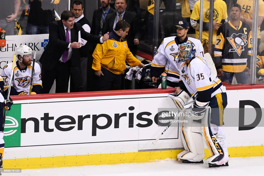 NHL: MAY 29 Stanley Cup Finals Game 1  Predators at Penguins : News Photo
