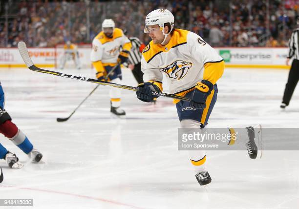 Nashville Predators left wing Filip Forsberg during a first round playoff game between the Colorado Avalanche and the visiting Nashville Predators on...