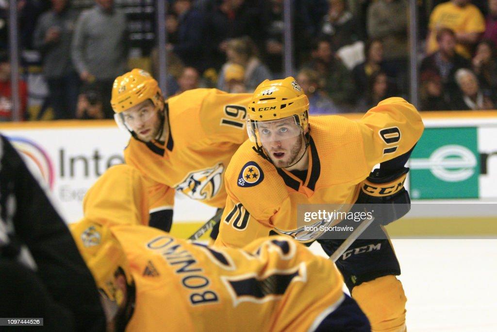 NHL: FEB 10 Blues at Predators : News Photo