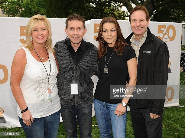 Nashville Recording Academy's Susan Stewart RCA Records Joe Galante Recording Artist Gretchen Wilson and RCA's Butch Waugh backstage at The 10th...