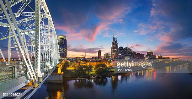 Nashville skyline over the Cumberland River.