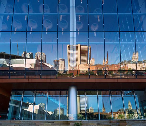 Nashville skyline reflected in Music City Center