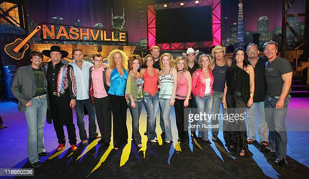 Nashville Star cast with guests Montgomery Gentry hosts LeAnn Rimes and Cledus T Judd and Judges Anastasia Brown Phil Vassar and Bret Michaels...