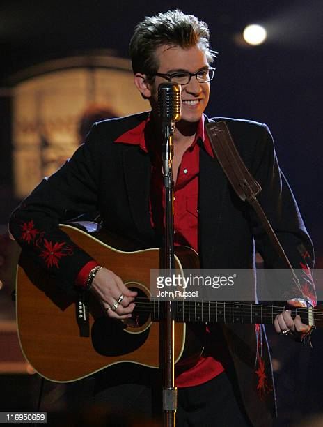 Nashville Star finalist Jody Evans performs 'Good Rockin' Tonight' during the final episode of Nashville Star at the BellSouth Acuff Theatre in...