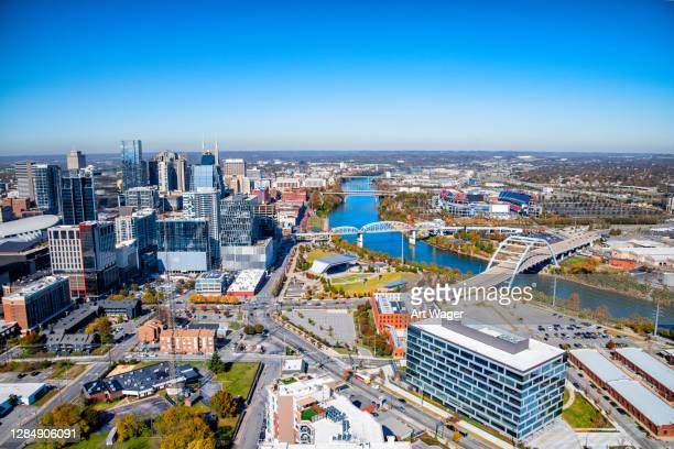 nashville, tennesee aerial - nashville stock pictures, royalty-free photos & images