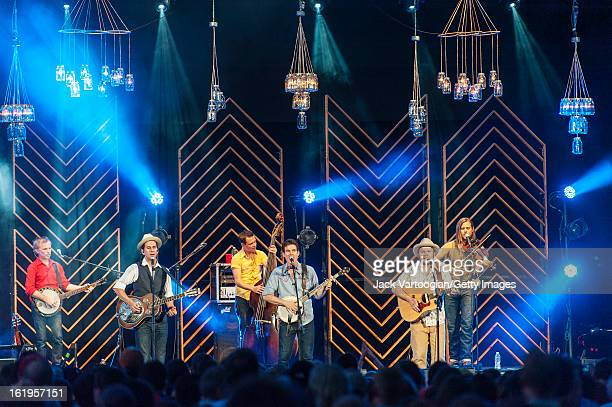 Nashville Tenneseebased Old Crow Medicine Show with Gill Landry on slide guitar and vocals Ketch Secor on fiddle Critter Fuqua on guitar and banjo...