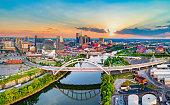 Nashville Tennessee TN Drone Skyline Aerial Panorama