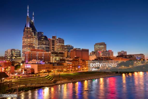 nashville tennessee usa downtown city skyline - nashville stock pictures, royalty-free photos & images