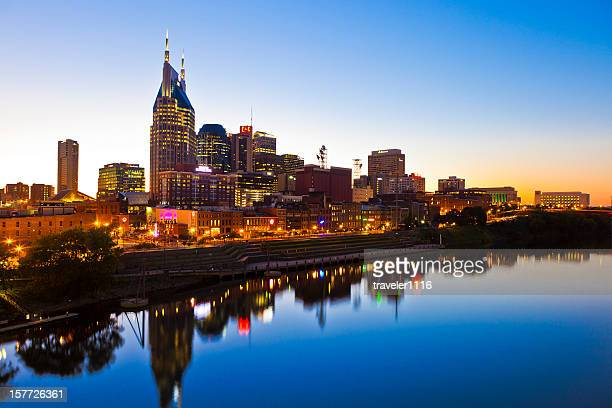 nashville, tennessee, usa - nashville skyline stock pictures, royalty-free photos & images