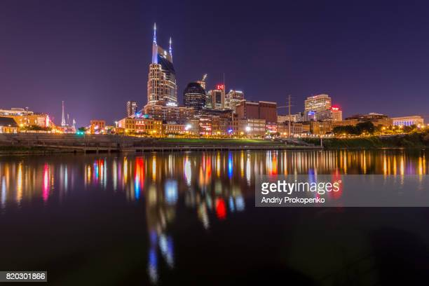 Nashville Waterfront at Night, Tennessee, USA