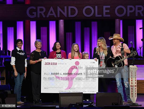 NashvilleBased Survivor Pam Martin Komen Central Tennessee Executive Director Patty Harman President and CEO Susan G Komen Dr Judy Salerno Aldean's...