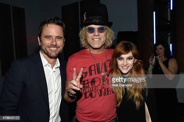 Nashville's Charles Esten Big Rich's Big Kenny Alphin and Aubrey Peeples attend the 2015 CMT Music Awards After Party at the Hutton Hotel on June 10...