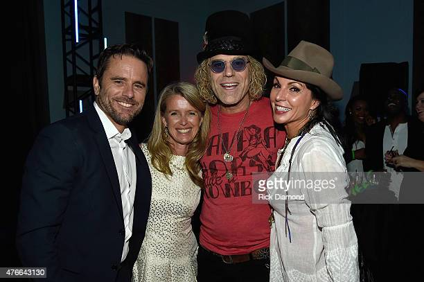 Nashville's Charles Esten Patty Hanson Big Rich's Big Kenny Alphin and Christiev Alphin attend the 2015 CMT Music Awards After Party at the Hutton...