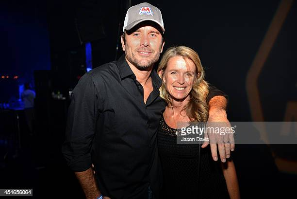 Nashville's Chip Esten and Patty Hanson attend Pandora Presents Trace Adkins Sponsored By Marathon at Marathon Music Works on September 4 2014 in...