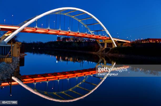 Nashville's Gateway Bridge reflecting on the Cumberland River