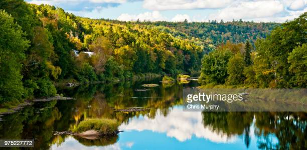 nashwaak river, marysville, new brunswick, canada - new brunswick canada stock pictures, royalty-free photos & images