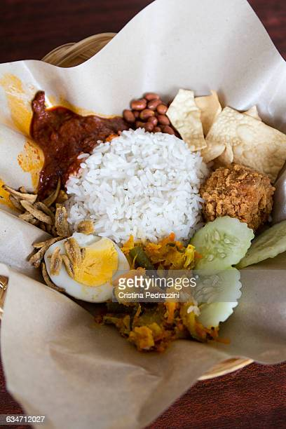 Nasi Lemak Malaysian rice dish