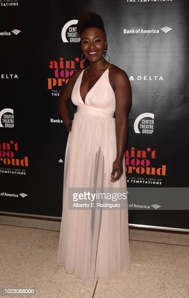 Nasia Thomas attends the after party for the Opening Night of Ain't Too Proud The Life And Times Of The Temptations at the Dorothy Chandler Pavillion...